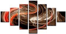 Slingky Marrone, Arancione 160x90cm Grande Tela Parete Arte Digitale Stampa Salotto