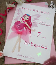 Personalised Handmade Birthday Daughter Niece Granddaughter 4th 5th 6th 7th
