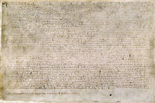 English Charter 1215 Magna Carta poster Barons of King John of England 24x36 in.