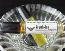 Men's Myrrh-Ica Cologne Oil Roll On, Frankincense and Myrrh Jojoba Oil USA Made