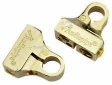 Audiopipe Gold Positive + & Negative - Battery Post Terminals 0 Ga 4 Ga (2) 8 Ga