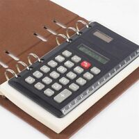 Solar Loose Leaf Binder 8 Digits with Ruler Calculators Office Spiral Calculator