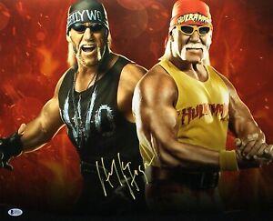 Hulk Hogan Signed HulkaMania 16x20 Photo *WCW *NwO Wrestling BAS I57233