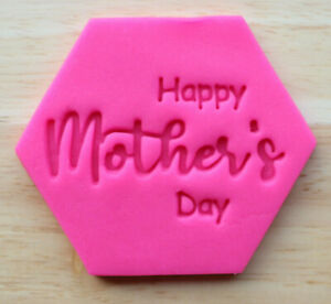 Mother's Day Cookie Embosser Stamp, Cupcake Fondant Stamp - 3054