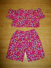 """16"""" CPK Cabbage Patch Kids CHRISTMAS CANDY CANE SCRUBS DOCTOR NURSE SHIRT+PANTS"""
