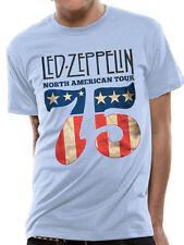 LED Zeppelin US 75 Mens T-shirt Licensed Top Blue 2xl