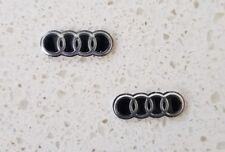 2 x 16mm Audi key logo emblem (flip key)