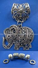 good luck elephant pendant slide tube scarf rings Jewelry Charm Scarf DIY