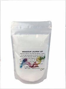 "Magnesium Chloride Pharmaceutical Grade 100% Edible ""Greenway Biotech"" 1 Pound"