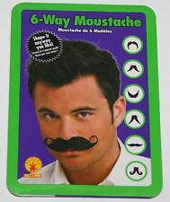 Six Way Moustache costume TV reenactment stage face hair parade theatrical actor