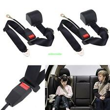 2X Car Universal Adjustable 3 Point Adjust Safety Seat Belt Lap Belt Kit