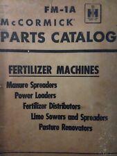 International Harvester Ih Front End Loader Manure Spreader Lime Parts Manual