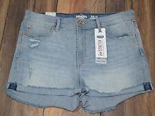 Levi's Denizen High Rise Shortie Stretch Denim Shorts Juniors Size 17