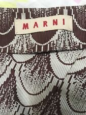 Marni Skirt Les Bains Douches period Back In The Days 1970 Size IT38 Ribbed Silk