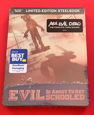 New listing Ash vs Evil Dead: Season 3 (Blu-ray Disc, SteelBook Best Buy) Brand New Sealed