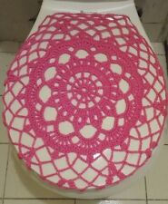 Handmade Crochet Toilet Lid/Seat Cover Pink 3#