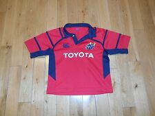 Canterbury MUNSTER Rugby Union Ireland Embroidered Sewn Jersey Kit Youth Age 6