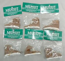 Lot Of 6 Midwest Brand Work Shoe Christmas Ornaments Mint In Package