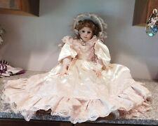 "Gorgeous 40"" Artist  Porcelain  Bisque Victorian Lady DALLAS  Doll By  Lassiter"
