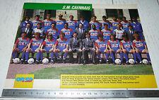 CLIPPING POSTER FOOTBALL 1990-1991 STADE MALHERBE CAEN SMC VENOIX D'ORNANO