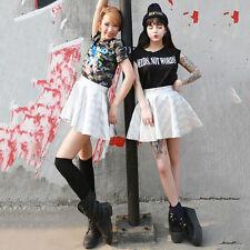 Mini Rock Kleid Kpop 2NE1 DARA Rock Kostüm Party Club Wear Hologramm Cosplay