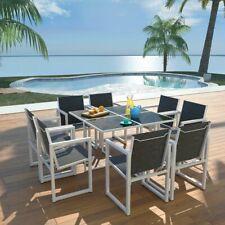 vidaXL Outdoor Dining Set 9 Piece 109x109x72cm Aluminium Garden Table Chairs