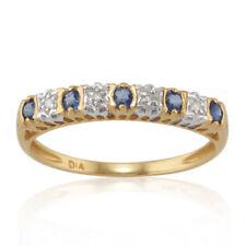 Anillos de joyería con gemas de oro amarillo de 24 quilates diamante