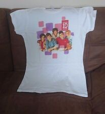 One Direction Squares Girl's T-Shirt White x-Large
