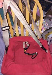 Kurgo Dog Car Seat Pet Booster Seat for Approximately 20-lbs Red/Khaki EUC