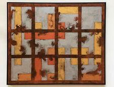 Metalle XII, Original von Norbert Herzog, Bauhaus-artig, modern Art auf Leinwand