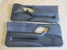 00-02 Camaro Z28 RS SS Door Panels Ebony Cloth PW LH RH Pair 1112-20