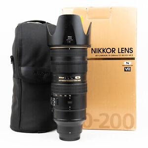 Nikon AF-S 70-200mm F2.8 ED VR II Lens - Boxed + Case + Hood & Collar - VGC