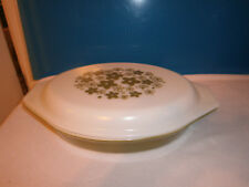 Vintage Pyrex Crazy Daisy Divided Dish with Lid