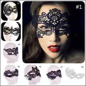 Sexy Black Lace eye mask Ladies Masquerade Ball Costume Party Fancy Dress New