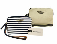 Fiorelli Lexi Blue White Striped Nautical & Plain Tan Wristlet Purse Twin Pack