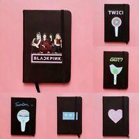 Kpop BLACKPINK PU Cover Notebook TWICE IZONE GOT7 TXT SEVENTEEN Fans lskn 0MJ&@