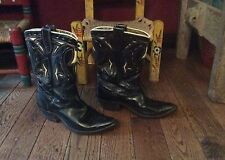 Vintage 1950's Acme Inlaid Western Pee Wee Cowboy Boots Womens 5.5 - 6