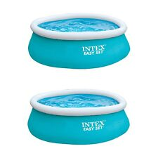 "Intex 6'x20"" Easy Set Inflatable Above Ground Swimming Pool, Aqua Blue (2 Pack)"
