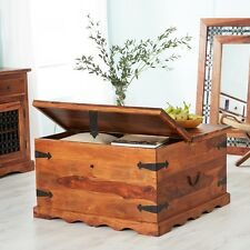 Rajkat Indian Rosewood Furniture Trunk Chest Coffee Table