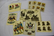 Vintage Lot of Meyercord Bicentennial Commemorative Decals 9 Designs Lot Of 100+