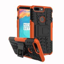 for One Plus 5t Case Rugged Armor Hybrid Stand Protective PC Hard Phone Cover Orange