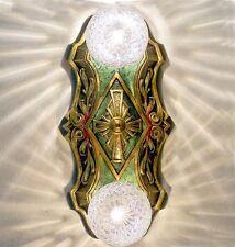 805 20's 30s LaSalle aRt Nouveau Ceiling Lamp Light Polychome 1 of 2