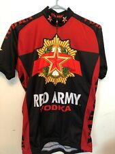 MENS Medium Cycling Jersey Red Army Vodka Russia