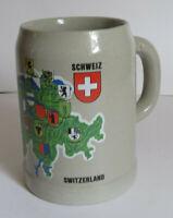 Switzerland Schweiz Suisse Svizzera .5L Beer Mug Stein Shields Coat of Arms (J)