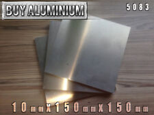 10mm Aluminium Plates / Sheets 150mm x 150mm - 5083