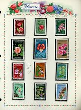 FLOWERS FLORA on White Ace Album Page Lot #25 - SEE SCAN - $$$