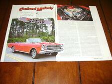 1966 FORD 7 LITER GALAXIE SOHC 428 - MUSCLE CAR ***ORIGINAL 1993 ARTICLE***