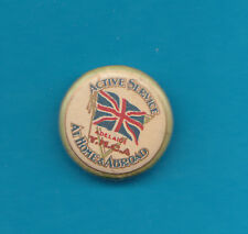 YMCA On Active Service Badge Nice Condition 7/8 Inch Across