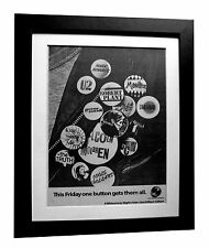 THE TUBE+CHANNEL 4+TV+MUSIC+POSTER+AD+RARE+ORIGINAL 1983+FRAMED+FAST GLOBAL SHIP