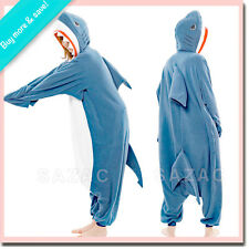XL SHARK Sazac Kigurumi Adult Animal Fleece Costume Pajama PJs Ships from US